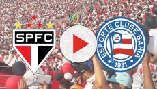 São Paulo x Bahia: partida ao vivo na TV aberta, TV fechada e internet