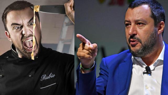 Chef Rubio ha polemizzato la notizia della presunta intimidazione a Salvini