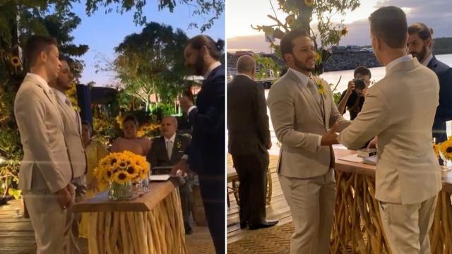 Carlinhos Maia se casa com Lucas Guimarães na presença de famosos