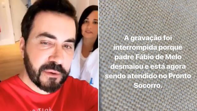 Padre Fábio de Melo se desculpa após brincar que havia desmaiado nas redes sociais