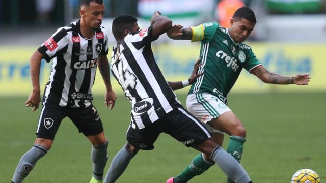 Desfalcados, Botafogo e Palmeiras se enfrentam em Brasília