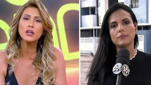 Vídeo mostra tentativa de furto à repórter do SBT, em velório de Gabriel Diniz