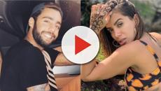 Novo casal, Anitta e Pedro Scooby publicam fotos juntos em viagem paradisíaca