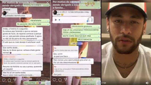 Para defenderse de la denuncia por violación, Neymar publica sus chats de WhatsApp