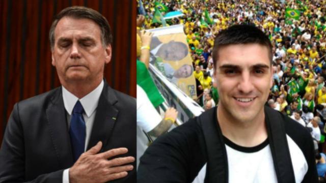 Presidente Bolsonaro presta homenagem a cantor que morreu após agredir namorada