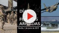 Se celebró de forma multitudinaria en Sevilla el Día de las Fuerzas Armadas