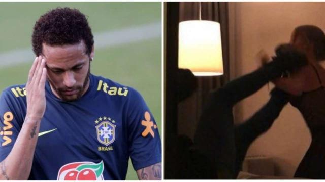 Pai de Neymar afirma que vídeo prova que filho foi alvo de armadilha