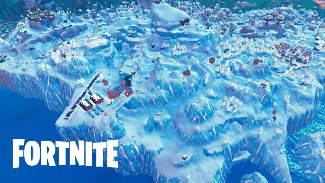 Fortnite 'Sea Monster' spotted swimming with Polar Peak castle on its back