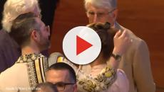 Amanda Knox returns to Italy and has a tearful moment in the criminal justice forum