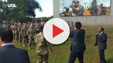 Vídeo: Doria Bolsonaro fazem flexões de braço vestidos com terno e gravata