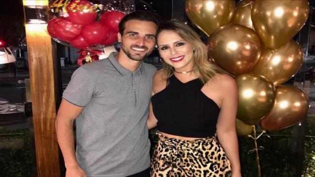 Aline Lima, filha de Chitãozinho, e jogador Rafael Longuine se casaram em Campinas