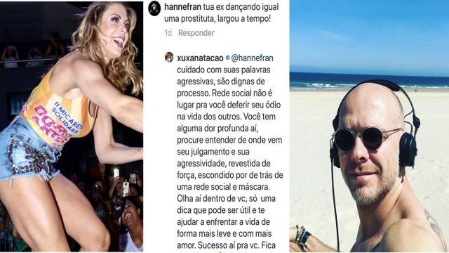 Xuxa se revolta com seguidor que chamou sua ex-mulher de 'protituta'