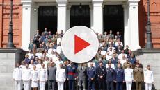 Entrega de diplomas a los nuevos oficiales de Estado Mayor por don Felipe VI