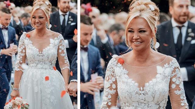 El vestido de boda de Belén Esteban diseñado por Fátima Álvarez pudo costar 2.800 euros