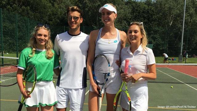 Tennis celebrities raise £800 for homeless charity Shelter UK in London's Battersea Park