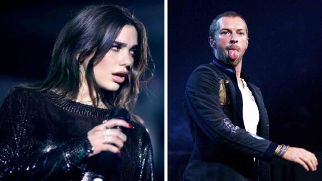 Chris Martin y Dua Lipa fueron vistos besándose en una fiesta