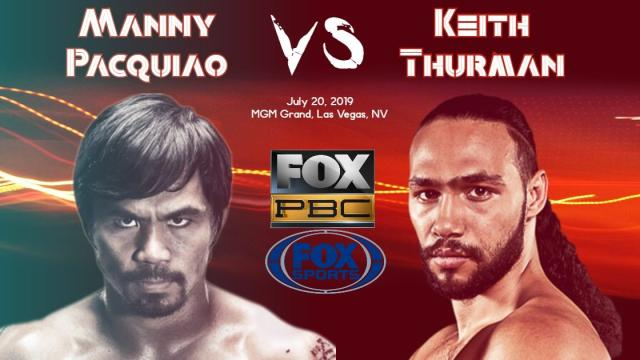 Manny Pacquiao vs. Keith Thurman live streaming on Fox Sports
