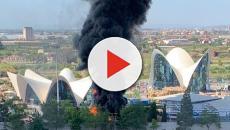 Incendio en el Oceanogràfic de Valencia provoca desalojo de las instalaciones