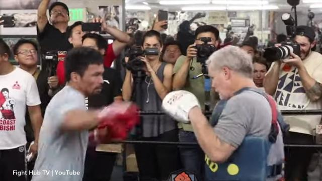 Manny Pacquiao vs Keith Thurman, Manny slows down his training