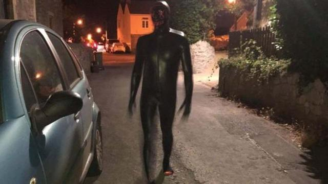 Grunting man in black gimp suit scares villagers in Somerset