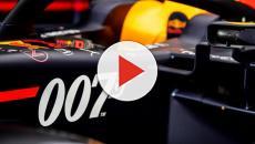 Mel B si cimenta in un giro folle sul circuito di F1 di Silverstone