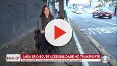 Repórter cadeirante da Globo sofre com falta de acessibilidade em reportagem