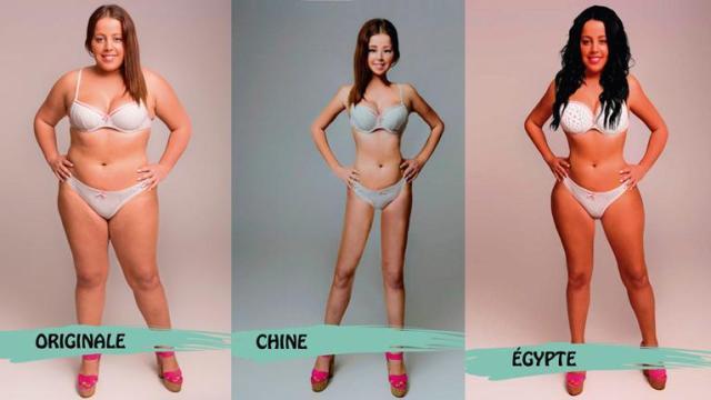 8 photos de modèles féminin par pays