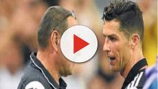 Juventus, Cristiano Ronaldo e Sarri potrebbero aver discusso per la sostituzione