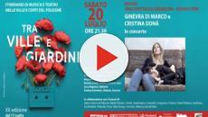 Rovigo, a 'Tra Ville e Giardini' ospiti Cristina Donà e Ginevra Di Marco