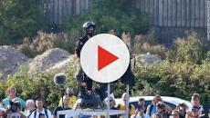 Franky Zapata no pudo cruzar el Canal de la Mancha volando en un 'flyboard'