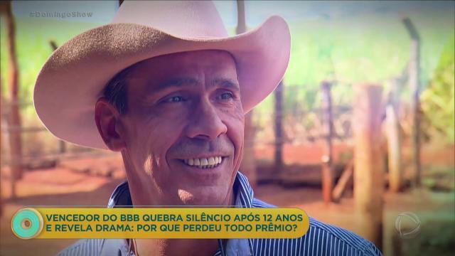 Rodrigo Cowboy, que venceu o 'BBB2', diz que perdeu todo prêmio conquistado