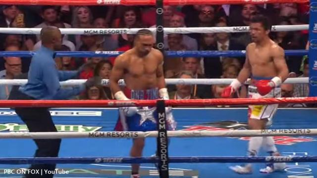 Manny Pacquiao relaxed a bit in some of the rounds against Keith Thurman