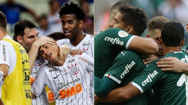 Corinthians e Palmeiras duelam neste domingo pelo Brasileirão