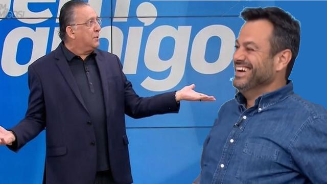 Eric Faria faz piada e deixa Galvão Bueno em saia-justa no SporTV