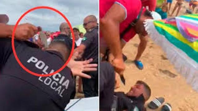 El jefe de la policía local de Punta Umbría apuñalado en la playa por vendedor ambulante