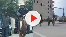 Policías de Texas desatan polémica al atar con una cuerda un hombre de raza negra