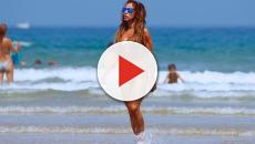 María Patiño es criticada fuertemente por la foto que publicó en la playa en bikini