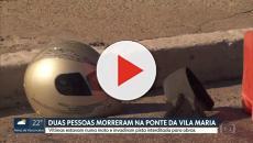 Motociclista fura bloqueios em ponte e 2 morrem degolados por corda de nylon em SP