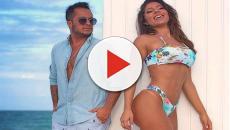 Andressa Ferreira posa com Thammy Miranda e exibe barriga de grávida