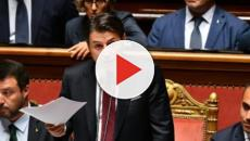 Il premier Conte parla al Senato e annuncia le dimissioni