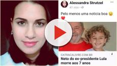 Blogueira que comemorou morte de neto de Lula pede dinheiro para indenização
