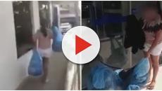 Mulher traída leva as roupas do marido para a amante