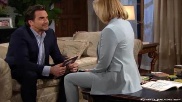 'The Bold and the Beautiful' Friday cliffhanger as Ridge watches Brooke push Thomas