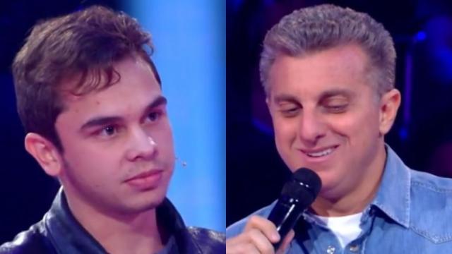 Luciano recebeu cantada durante quadro do programa 'Caldeirão do Huck'