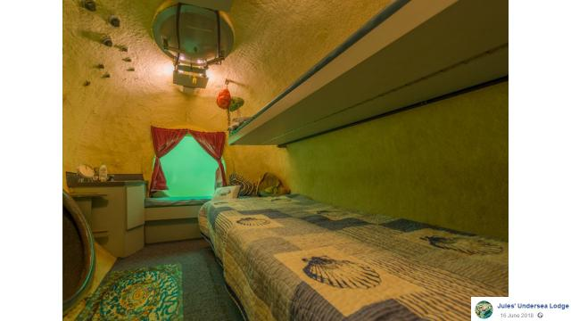 Stay under the sea in Jules' Undersea Lodge in Key Largo, Florida