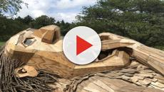 Belgio, Thomas Dambo riempie la foresta di Boom con i suoi troll giganti