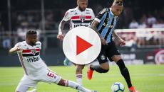 Em jogo marcado por queda de torcedor, São Paulo empata com Grêmio