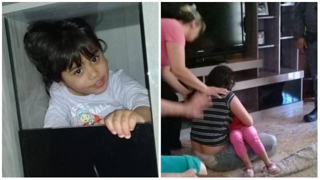 Menina de três ano se esconde dentro de casa e mobiliza polícia