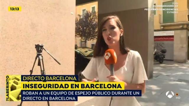 Espejo público ha sufrido un robo en pleno directo en Barcelona