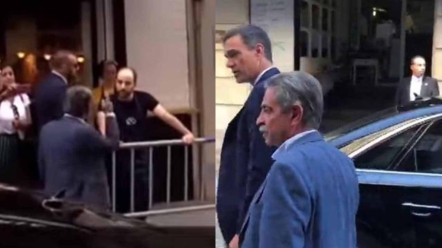 Revilla abronca a un camarero en plena calle por llamar 'hijo de p...' a Sánchez